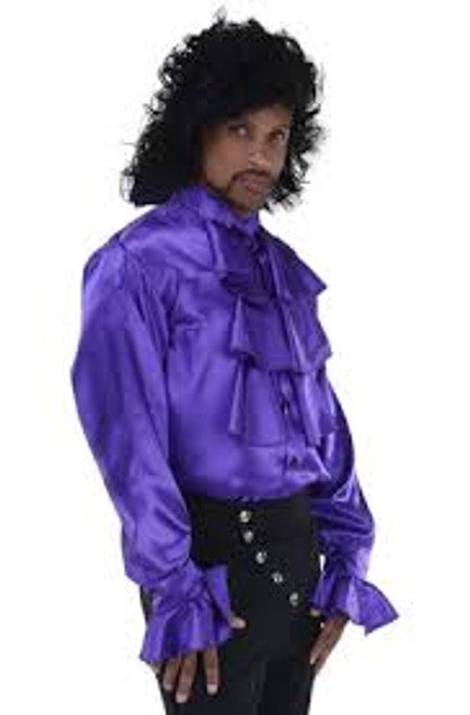 Purple Pop Star Satin Shirt