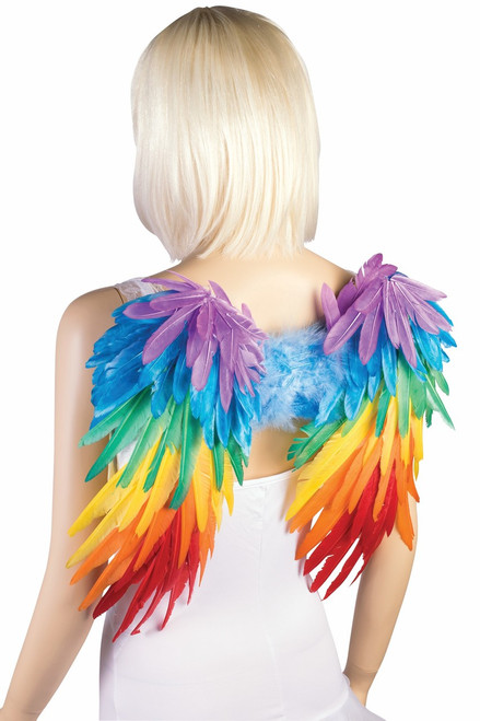 Rainbow Unicorn Feather Wings (BACK)