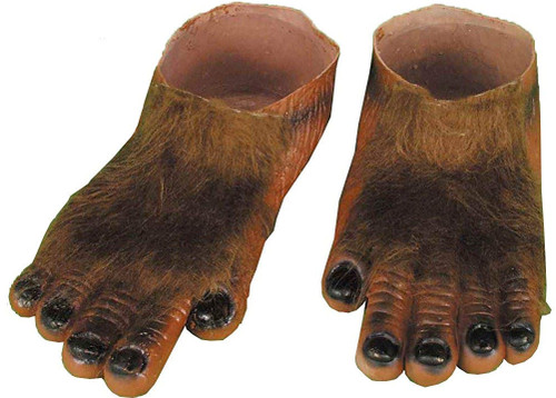 Brown Hairy Hobbit or Werewolf Feet