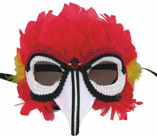 Pirate Parrot Masquerade Sequin Mask