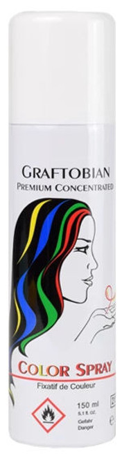 Graftobian Coloured Hairspray White - In-Store Only