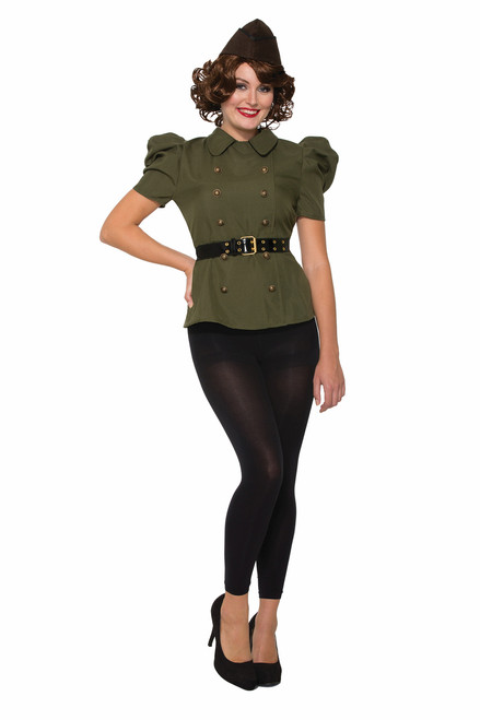 40s Green Army Female Shirt