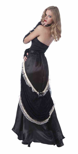 Black and White Gothic Victorian/Steampunk Lace Skirt
