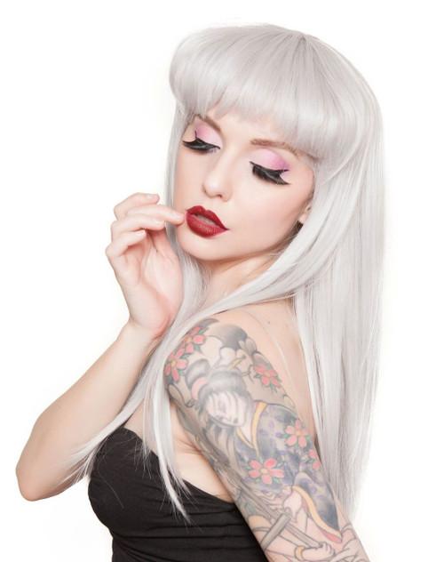 Rockstar Pin-Up Classic Silver Wig