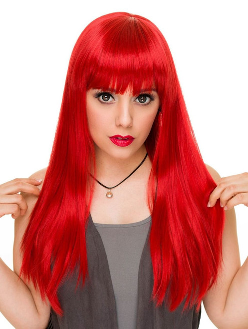 Rockstar Pin-Up Classic Red Wig