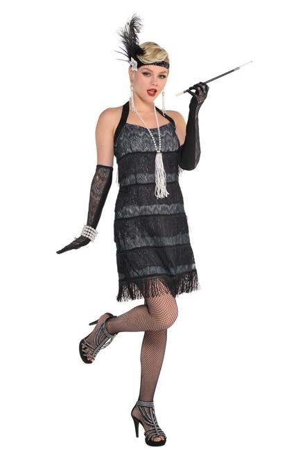Ladies Lace Flapper Costume