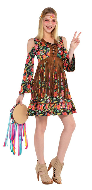 Ladies Flower Power Hippie Costume
