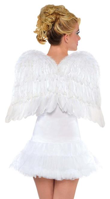 """22"""" Feather Wings In White or Black (WHITE)"""
