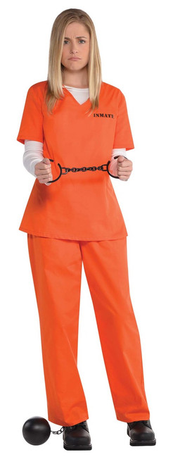 Ladies Inmate Costume