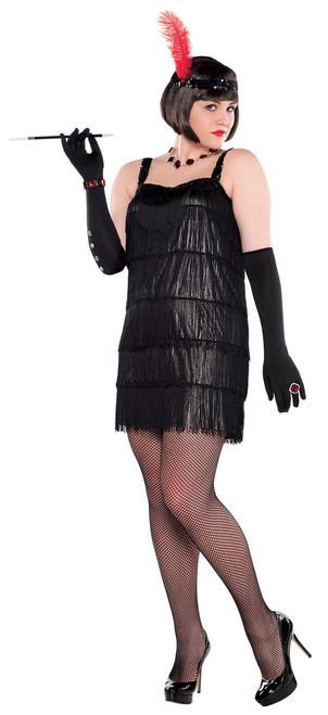 Flashy Flapper Costume - Plus Size