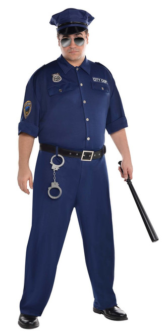 Mens On Patrol Plus Size Costume
