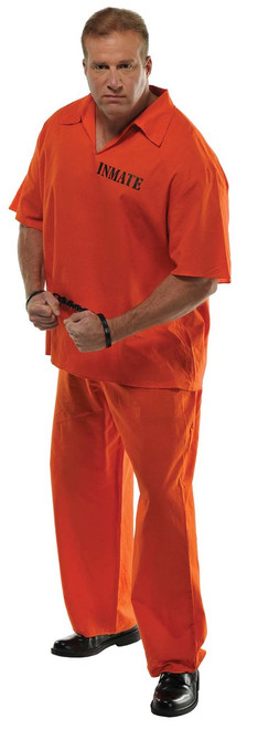 Orange Jumpsuit Inmate Plus Size Costume
