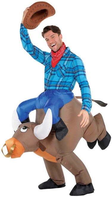 Inflatable Ride-on Bull Rider/Rodeo Cowboy Costume