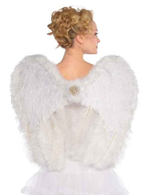 White Deluxe Angel Feather Wings