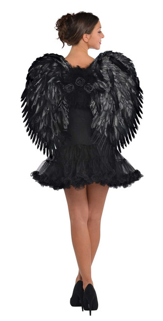 Black Dark Angel Feather Wings