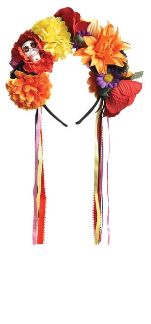 Day of The Dead Flower Sugar Skull Headband