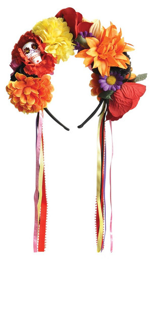 Day of The Dead Flower Sugar Skull Headband