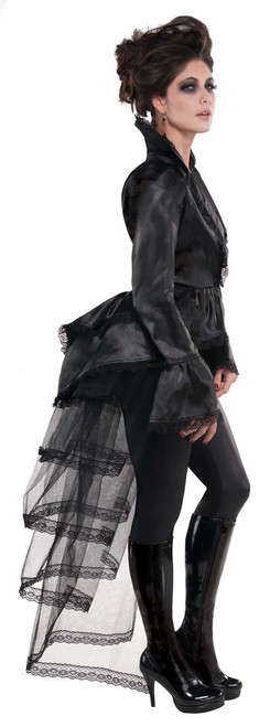 Gothic Black Lace Bustle