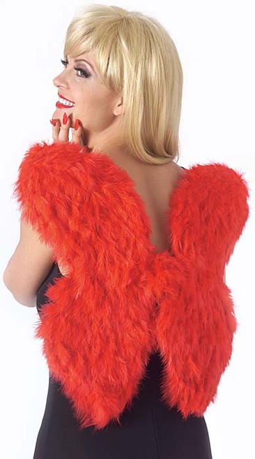 Soft Red Feather Wings