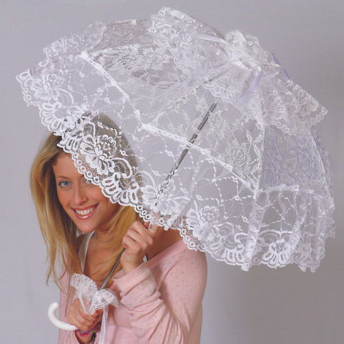 Theatrical Victorian Lace Parasol