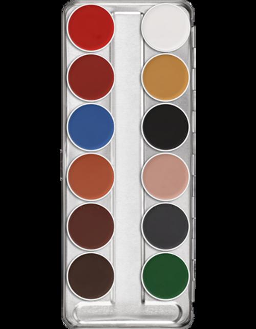 Kryolan Professional Aquacolor 12 Basic Pallette