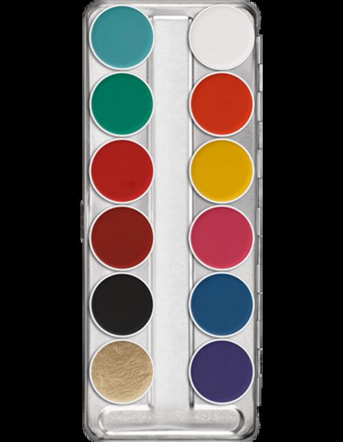 Kryolan Professional Aquacolor 12 FP2 Pallette