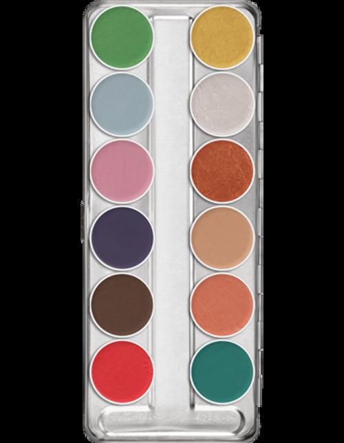 Kryolan Professional Aquacolor Interferenz 12 Palette