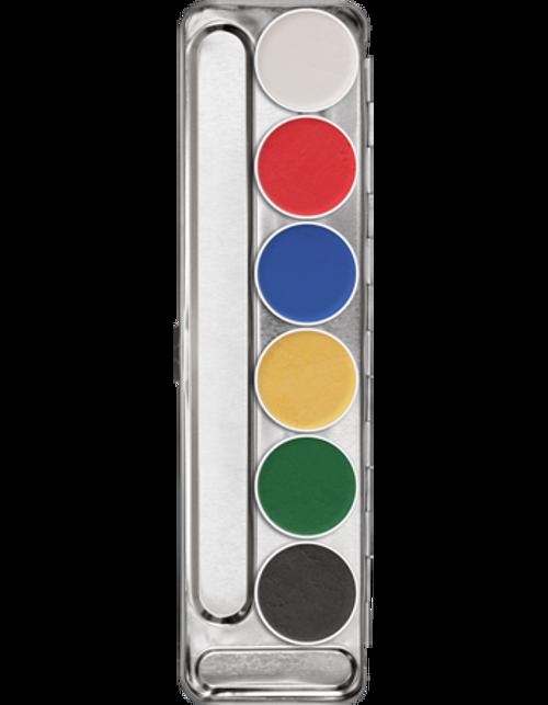 Kryolan Professional Aquacolor Interferenz 6 Palette