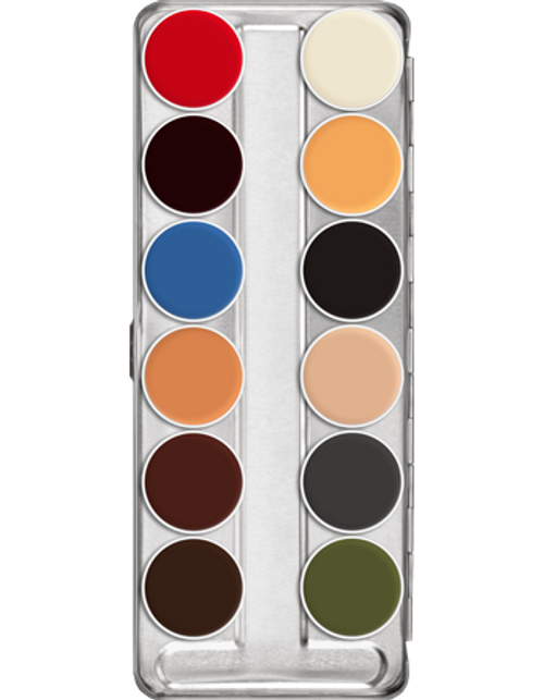 Kryolan Professional Grease Paint 12 B Palette