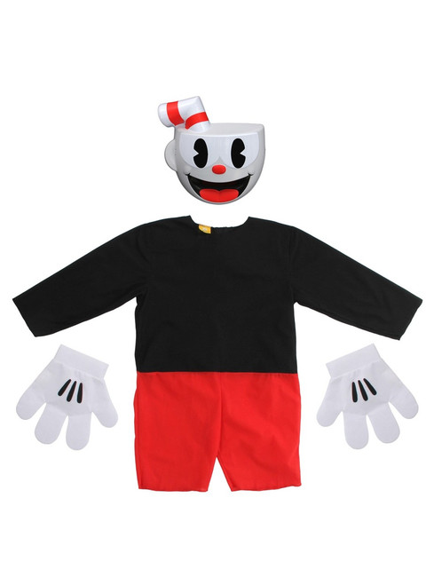 Cuphead: Don't Deal With The Devil - Kids Cuphead Costume (ALT)