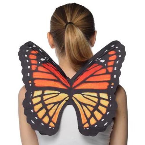 Graphic Print Butterfly Wings with Shoulder Straps