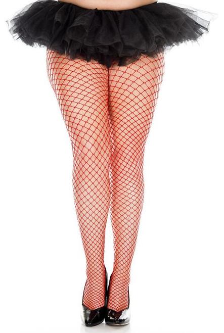 Plus Size Mini Diamond Net Pantyhose
