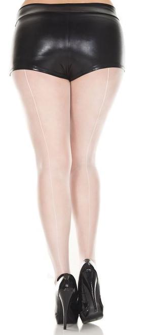 Plus Size Sheer Backseam Pantyhose