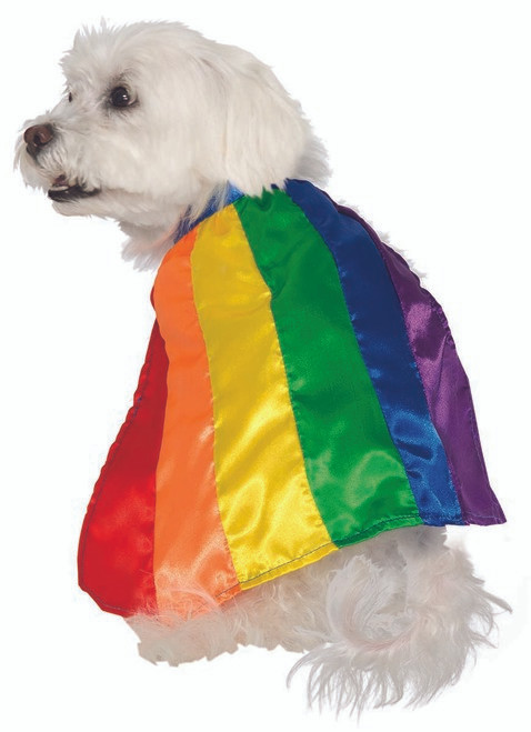 Rainbow Pride Pet Cape
