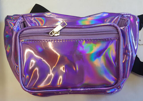 Reflective Holographic Fanny Pack