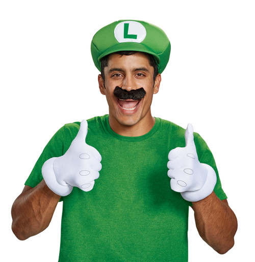 79fa8a391e9 Adult Luigi Accessory Kit With Hat Gloves and Mustache (ALT)