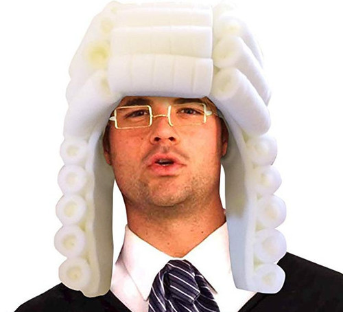 Foam Judge Wig