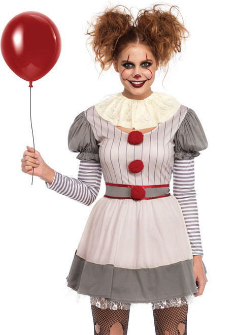 Women's Creepy Dancing Clown Costume (ALT)