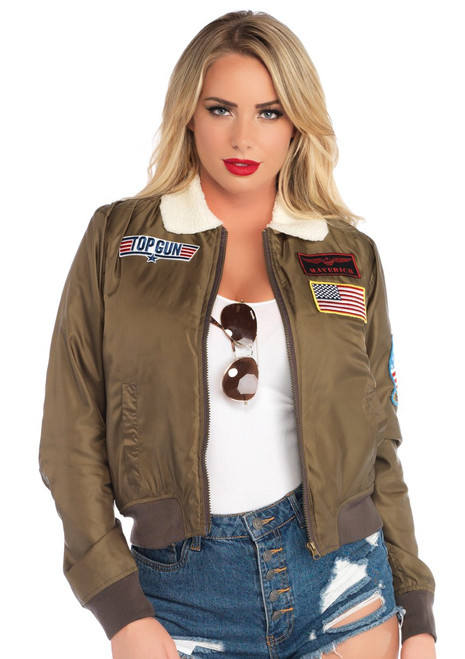 Women's Top Gun Officially Licensed Bomber Jacket (ALT)