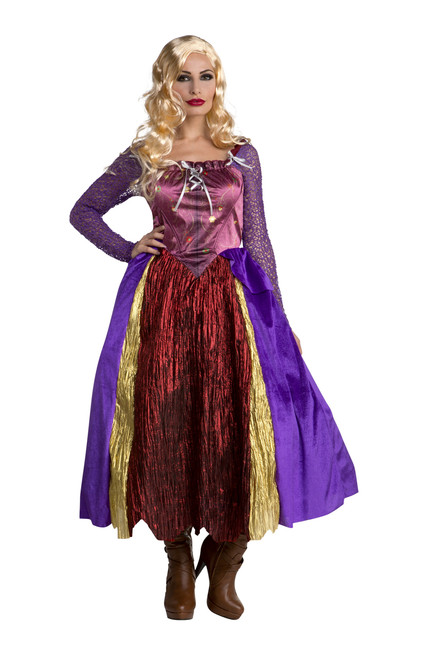 Women's Lavish Blonde Witch Dress Costume