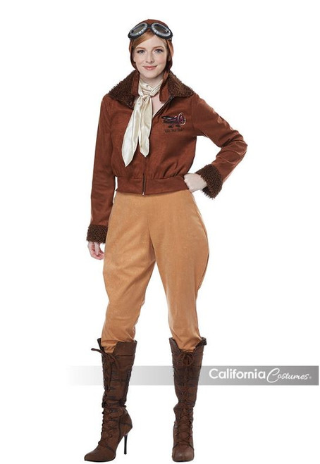 Womens Amelia Earhart Inspired Aviator Costume