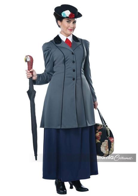 Womens Plus Size English Nanny Musical Costume