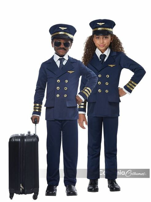 Kids Airplane Pilot Uniform Costume