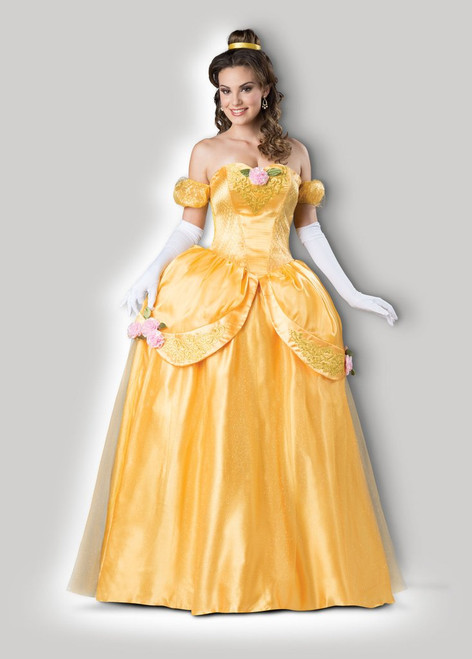Beautiful Belle Princess Yellow Ball Gown Costume