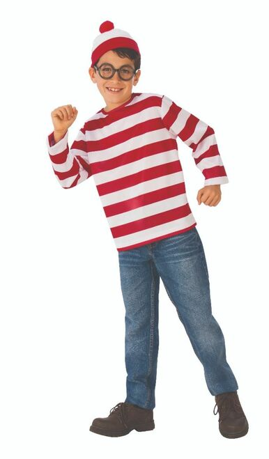 Teen Licensed Where's Waldo Costume