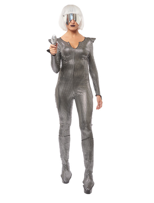 Gaga Galaxy Girl Metallic Jumpsuit Costume
