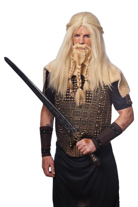 Viking Barbarian Wig and Beard Set