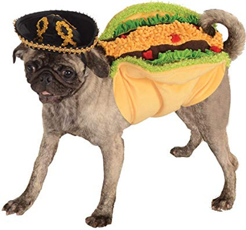 Taco Pet Costume with Sombrero