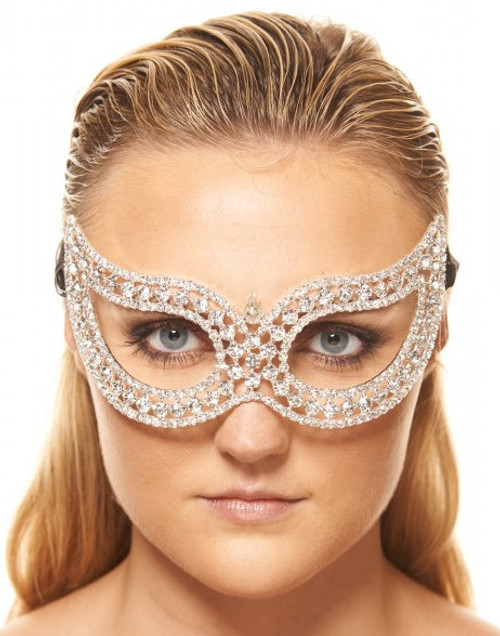 Refined Pointed Clear Crystal Mask