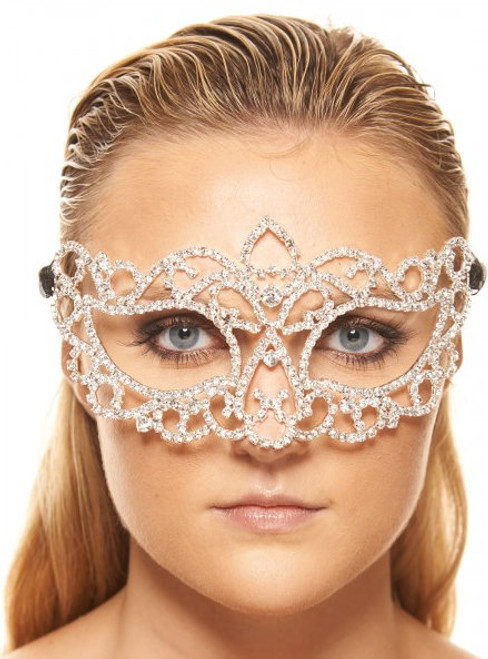 Charismatic Clear Crystal Queen Mask